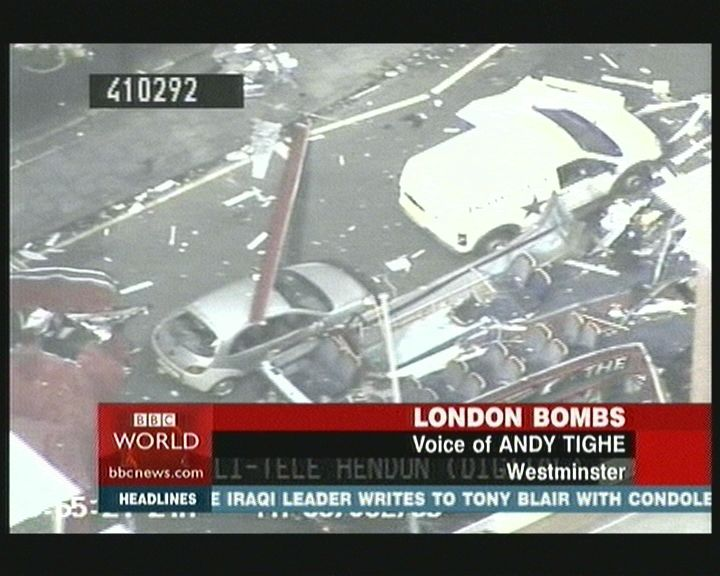 'Red-Herring' Kingston Demolition Van at scene of Tavistock Sq Bus Bomb