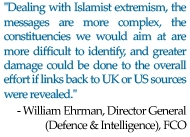 "william ehrman quote - ""if links back to UK or US sources were revealed"""